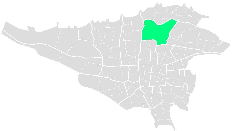 محله های منطقه سه